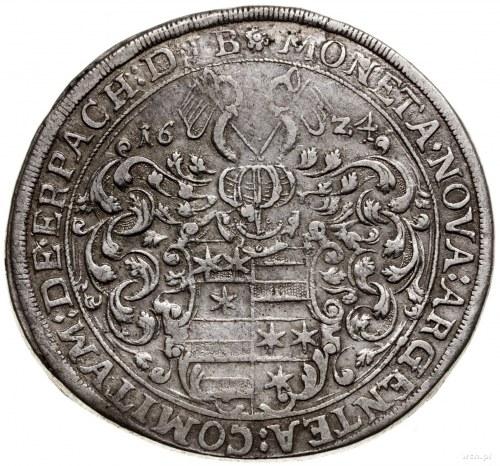 Talar, 1624, mennica Michelstadt; Aw: Tarcza herbowa, n...