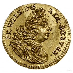 1/4 dukata, 1714 HFH, mennica Magdeburg; Aw: Popiersie ...