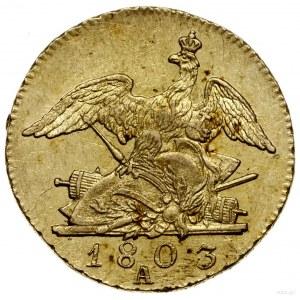 Friedrichs d'or, 1803 A, mennica Berlin; Fr. 2422, Oldi...