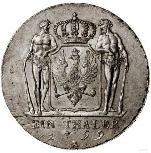 Talar, 1799 A, mennica Berlin; Aw: Popiersie władcy w l...