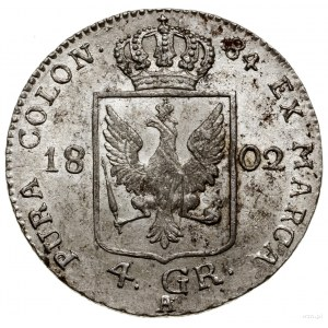 4 grosze (1/6 talara), 1802 A, mennica Berlin; Olding 1...