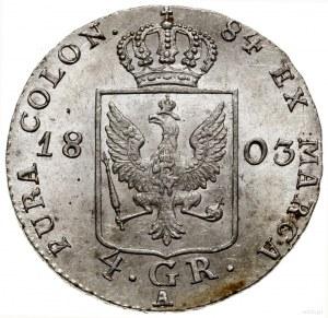 4 grosze (1/6 talara), 1803 A, mennica Berlin; Olding 1...
