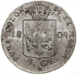 4 grosze (1/6 talara), 1804 A, mennica Berlin; Olding 1...