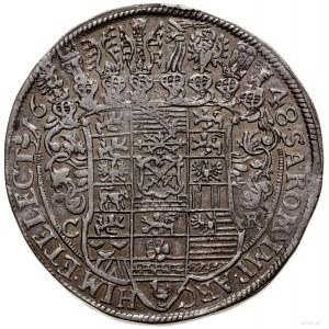 Talar, 1648, mennica Drezno; Aw: Półpostać władcy trzym...