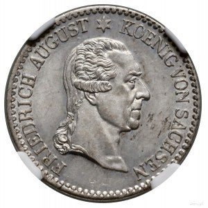 1/6 talara pośmiertne, 1827 S, mennica Drezno; Aw: Głow...