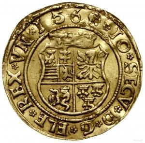 Dukat, 1568, mennica Hermannstadt; Aw: Ukoronowana, wie...