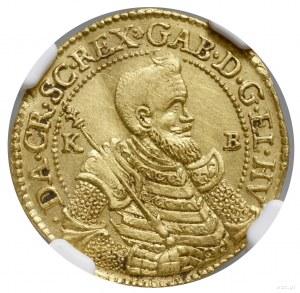Dukat, 1621, mennica Kremnica; Aw: Popiersie księcia w ...