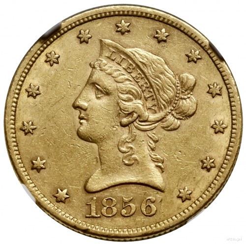 10 dolarów, 1856 S, mennica San Francisco; typ Liberty ...