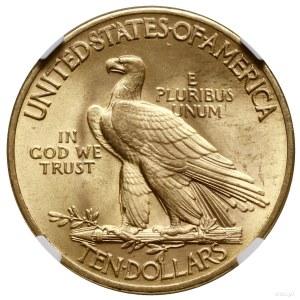 10 dolarów, 1932, mennica Filadelfia; typ Głowa Indiani...