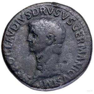Sestercja, 50–54, Rzym; Aw: Głowa Druzusa Starszego w l...