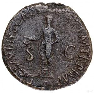 Dupondius, 41–42, Rzym; Aw: Popiersie cesarzowej w praw...