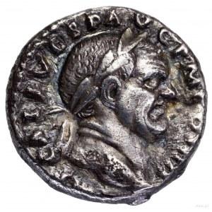 Denar, 72–73, Rzym; Aw: Głowa cesarza w wieńcu laurowym...