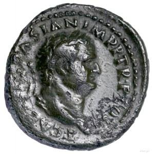 As, 72, Rzym; Aw: Głowa cezara w wieńcu laurowym w praw...