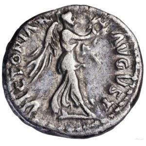 Kwinar, 97, Rzym; Aw: Głowa cesarza w wieńcu laurowym w...