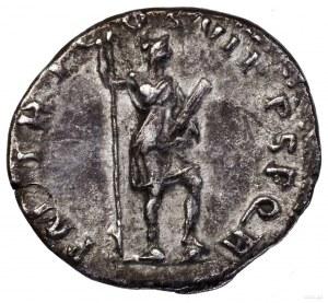 Denar, 114–117, Rzym; Aw: Popiersie cesarza w wieńcu la...