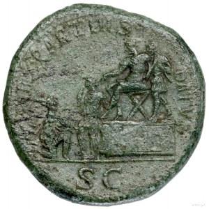 Sestercja, 116–117, Rzym; Aw: Popiersie cesarza w wieńc...