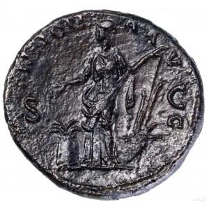 As, 133–135, Rzym; Aw: Głowa cesarza w wieńcu laurowym ...
