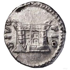 Denar pośmiertny, po 161, Rzym; Aw: Głowa cesarza w pra...