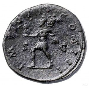 Sestercja, 174–175, Rzym; Aw: Popiersie cesarza w wieńc...