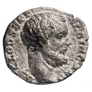Denar, 194–195, Rzym; Aw: Głowa Klodiusza w prawo, D CL...