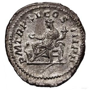 Denar, 212, Rzym; Aw: Głowa cesarza w wieńcu laurowym w...