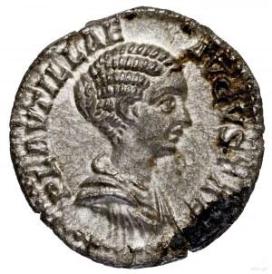 Denar, 202, Rzym; Aw: Popiersie cesarzowej w prawo, PLA...