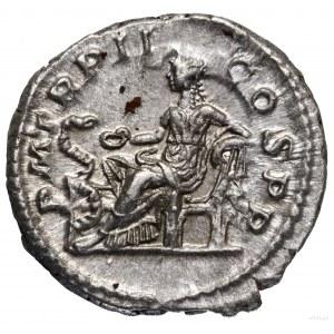 Denar, 223, Rzym; Aw: Popiersie cesarza w wieńcu laurow...