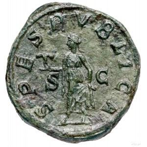 Sestercja, 231–235, Rzym; Aw: Głowa cesarza w wieńcu la...