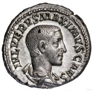 Denar, 235–236, Rzym; Aw: Popiersie cezara w prawo, IVL...