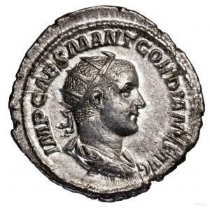 Antoninian, 238–239, Rzym; Aw: Popiersie cesarza w koro...