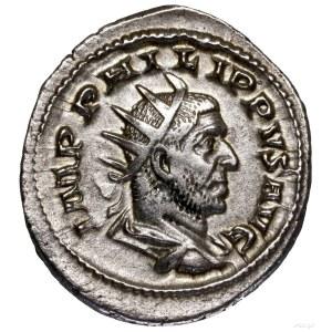 Antoninian, 248, Rzym; Aw: Popiersie cesarza w koronie ...