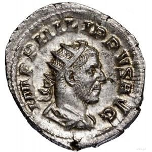 Antoninian, 247–249, Rzym; Aw: Popiersie cesarza w koro...