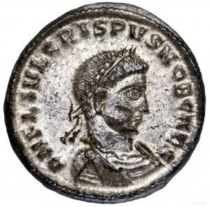 Follis, 318–319, Tesaloniki; Aw: Popiersie cezara w pra...