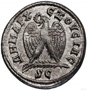 Tetradrachma bilonowa, 244, Antiochia; Aw: Popiersie ce...