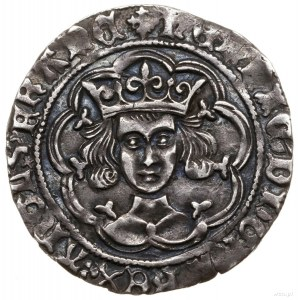 Grosz, 1461–1470, Londyn; Aw: Popiersie władcy nawpros...