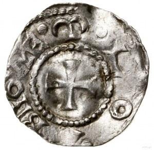 Denar, 983–1002; Aw: Krzyż kawalerski, w każdym kącie k...