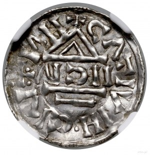 Denar, 1002–1009, Nabbrug, mincerz Aig; Aw: Krzyż greck...