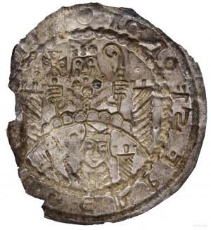 Brakteat, bez daty (1142–1153); nałuku półpostać Marci...
