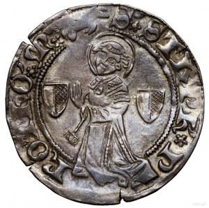 Grosz, bez daty (XV w.), Metz; Aw: Św. Stefan klęczący ...