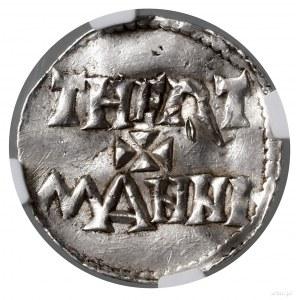 Denar; Aw: Krzyż grecki, w każdym kącie kulka, + ODDO +...