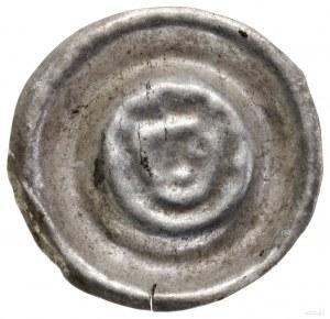 Brakteat szeroki, 1230–1290; Ukoronowana schematyczna g...