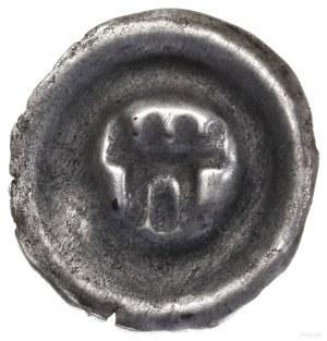 Brakteat, II połowa XIII w.; Wieża bramna zczterema bl...
