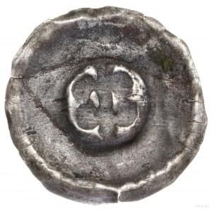 Brakteat zredukowany, 1230–1290; Dwie lilie, stykające ...