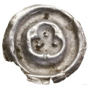 Brakteat, 1230–1290; Trójliść zcienką łodygą; Fbg 1030...
