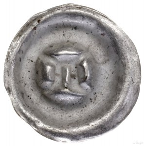 Brakteat, Ićwierć XIV w., Jędrzejów; Litera A  zgórną...