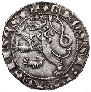 Grosz praski, bez daty (1300–1305), Kutná Hora; Aw: Kor...