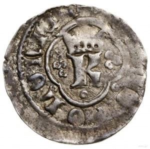 Kwartnik ruski, 1360–1370, Lwów; Aw: Ukoronowana litera...