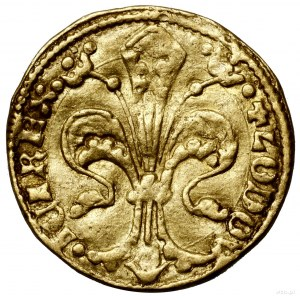 Floren (goldgulden), bez daty (1342–1353), Buda; Aw: Li...