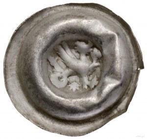 Brakteat, 1260–1271, Gryf kroczący w prawo, zwywinięty...