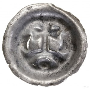 Brakteat, ok. 1277/1278–1287/1288; Krzyż stojący nałuk...